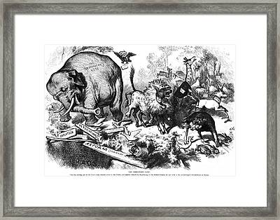 Republican Elephant, 1874 Framed Print