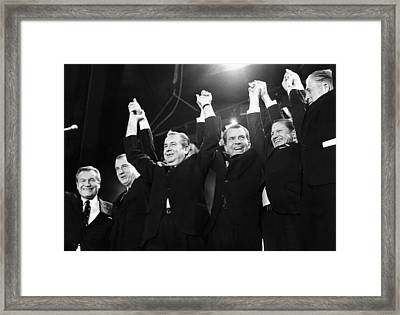 Republicans Display Unity Framed Print by Everett