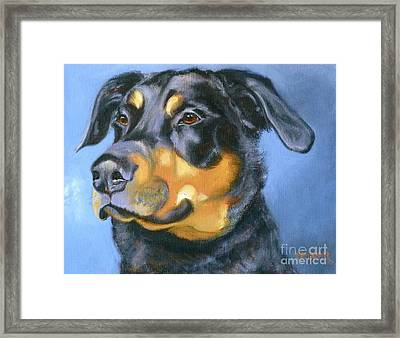 Rescue In Blue Framed Print by Susan A Becker