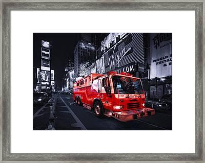 Rescue Me Framed Print by Evelina Kremsdorf