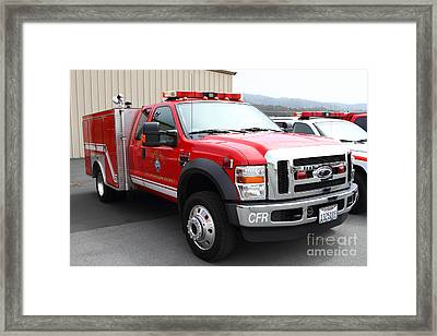 Rescue Truck . Coastside Fire Protection District 7d15096 Framed Print by Wingsdomain Art and Photography