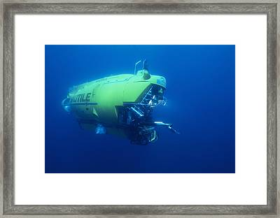 Research Submersible Framed Print by Alexis Rosenfeld