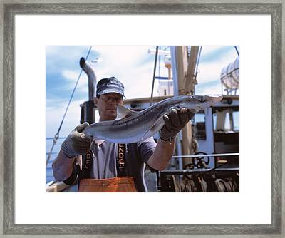 Researcher Collecting Research Specimens Framed Print by Volker Steger