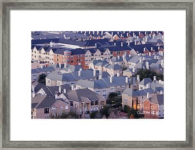Residential Area Framed Print