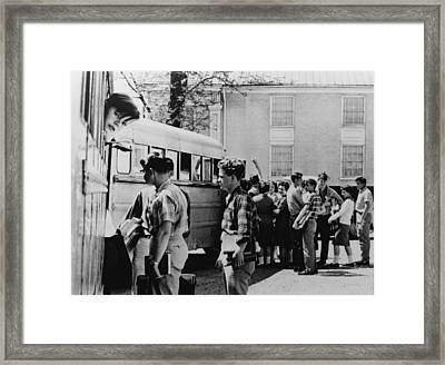 Resisting School Integration. White Framed Print by Everett