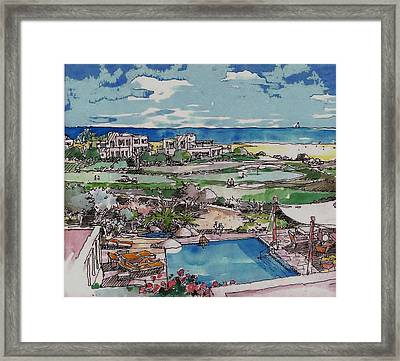 Resort Framed Print by Andrew Drozdowicz