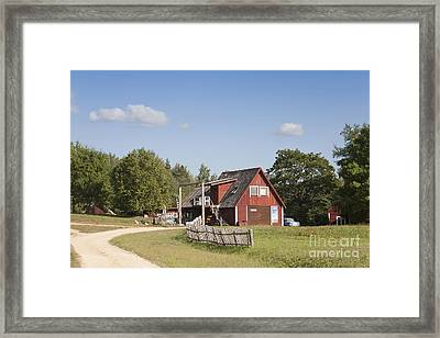 Resort Building In The Countryside Framed Print by Jaak Nilson