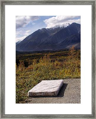Rest And Enjoy The Great Outdoors Framed Print by Karen Lee Ensley