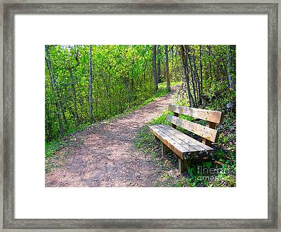 Rest Stop Framed Print by Jim Sauchyn