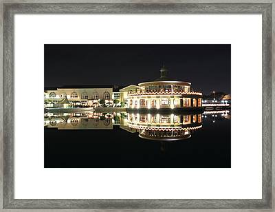 Restaurant And Bar Near Lake Framed Print by Radoslav Nedelchev