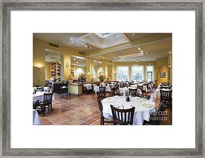 Restaurant Framed Print by Andersen Ross