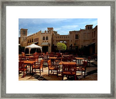 Restaurant In Old Town  Framed Print by Radoslav Nedelchev
