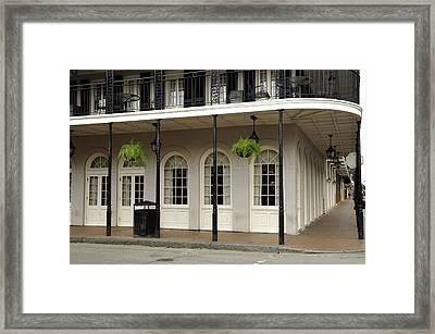 Framed Print featuring the photograph Restaurant On Bourbon Street by Bradford Martin