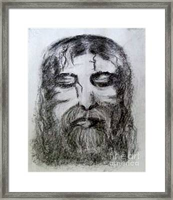 Framed Print featuring the drawing Resting A Weary Soul by Lori  Lovetere
