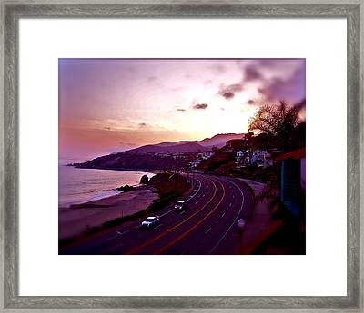 Resting Area Framed Print by Amber Hennessey