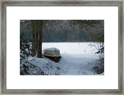 Resting For The Season Framed Print