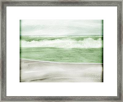Restless Sea Framed Print by Linde Townsend