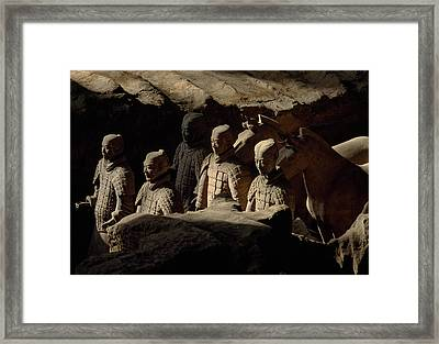 Restored Terra-cotta Soldiers Lead Framed Print