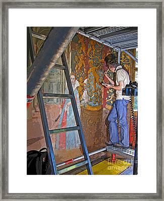 Framed Print featuring the photograph Restoring Art by Ann Horn