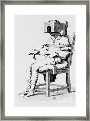 Restraining Chair 1811 Framed Print by Science Source