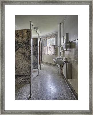 Restroom Stalls Circa 1927 Upscale Framed Print by Douglas Orton
