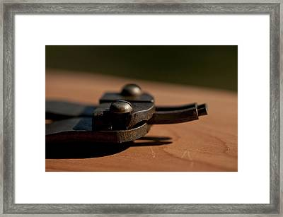 Retaining Ring Pliers Framed Print by Wilma  Birdwell