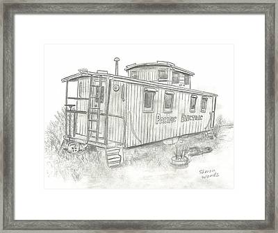 Retired Caboose Framed Print by Sharon  Woods