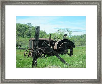 Retired Framed Print by Laurianna Taylor