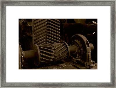 Retired Mining Machine Framed Print by Jephyr Art