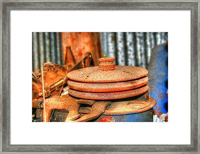 Retired Pulley Framed Print by Ester  Rogers