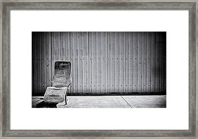Retired Framed Print by Ron Regalado