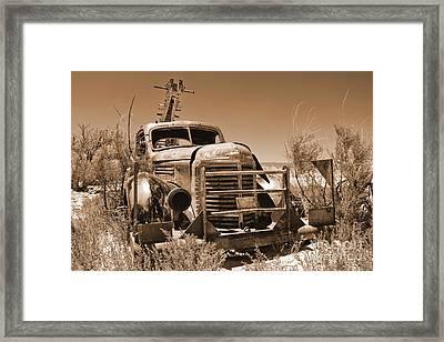 Retired Sepia Framed Print by Bob and Nancy Kendrick