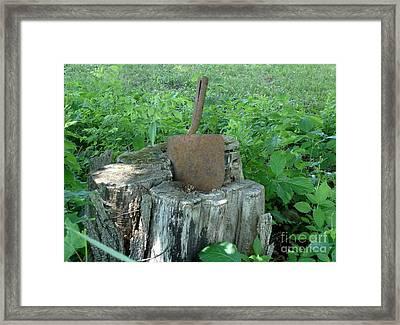 Retired Shovel  Framed Print by Kerri Mortenson