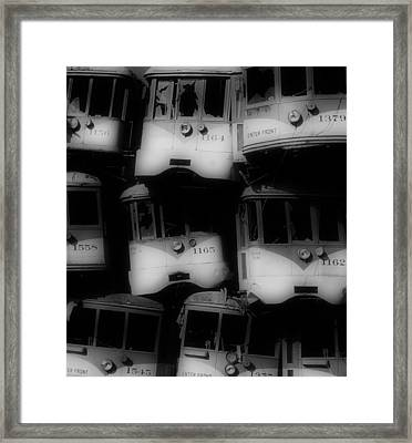 Retired Streetcars Framed Print