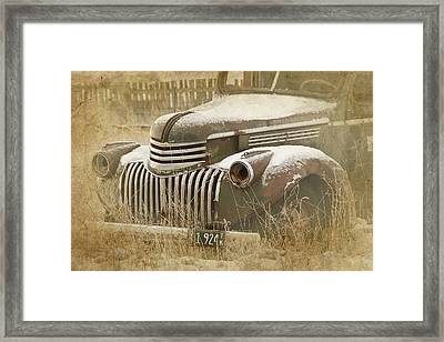 Retired Truck Circa 1924 Framed Print