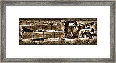 Retired Truck Framed Print