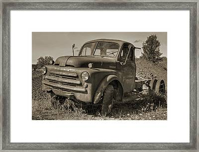 Retired Framed Print by Tyra  OBryant