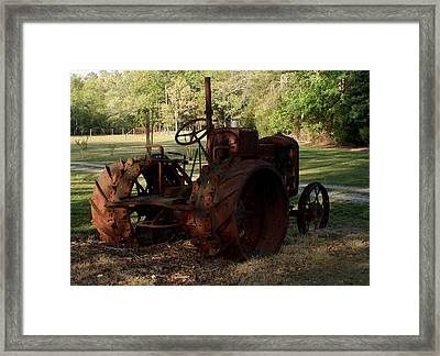 Retired2 Framed Print by Karen Harrison