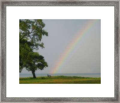 Retirement By The Sea Framed Print by Tina Ann Byers