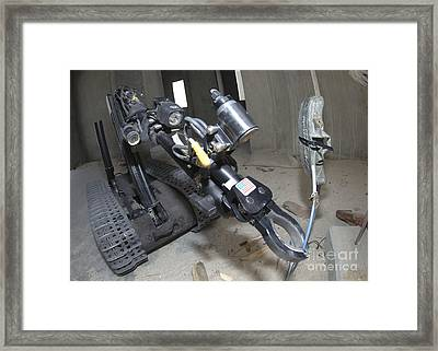 Retractable Arm Of Talon 3b Robot Framed Print