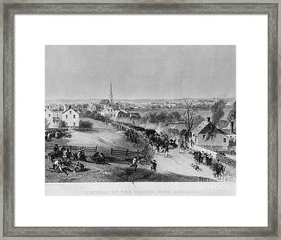 Retreat Of British From Concord Framed Print