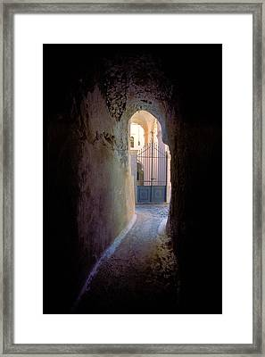 Retreating Shadows-rodos Framed Print