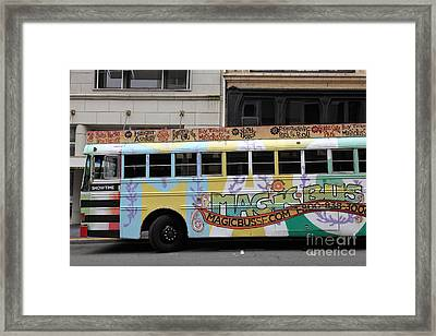 Retro 60s San Francisco Haight Ashbury Magic Bus - 5d17924 Framed Print by Wingsdomain Art and Photography