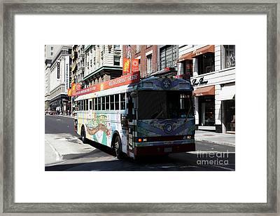 Retro 60s San Francisco Haight Ashbury Magic Bus - 5d18009 Framed Print by Wingsdomain Art and Photography