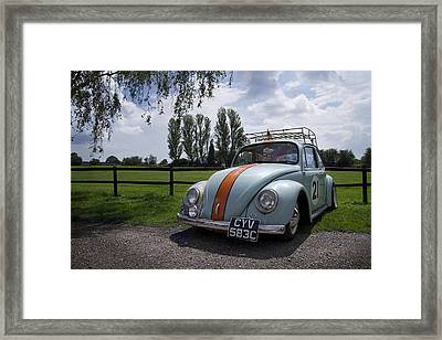 Retro Beetle 1 Framed Print by Dan Livingstone
