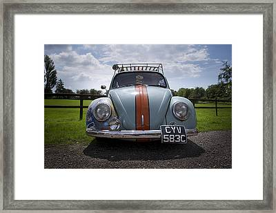 Retro Beetle 2 Framed Print by Dan Livingstone