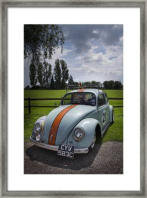 Retro Beetle 4 Framed Print by Dan Livingstone