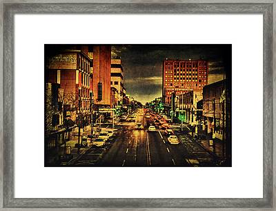 Retro College Avenue Framed Print by Joel Witmeyer