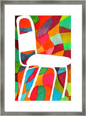 Retro Dinette Chair Framed Print by Paula Ayers