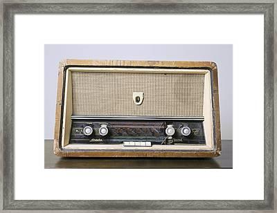 Retro Hi-fi Minerphon Radio Receiver Framed Print by Photostock-israel